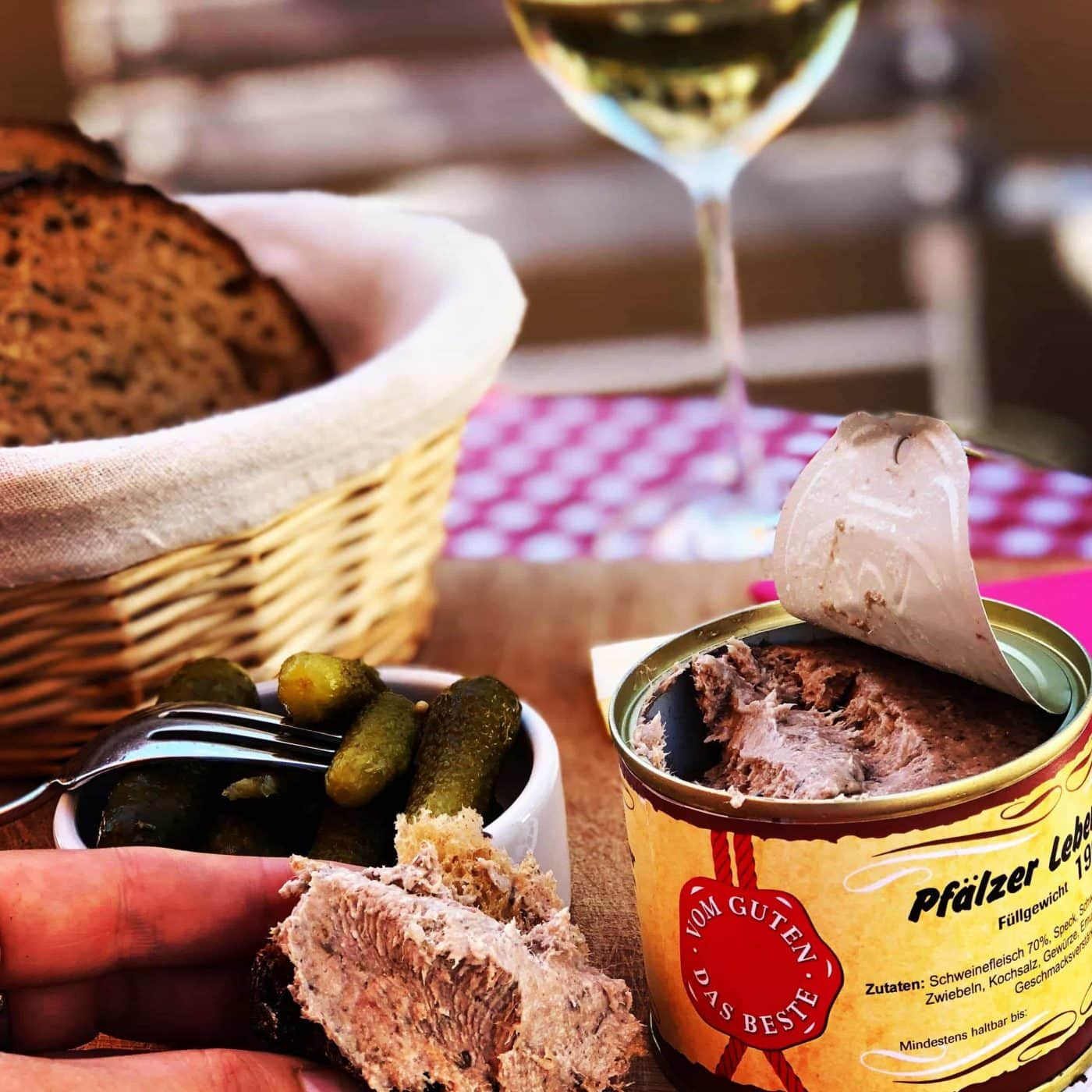 A 'Holy Trinity' of Wine, Sausage + Bread
