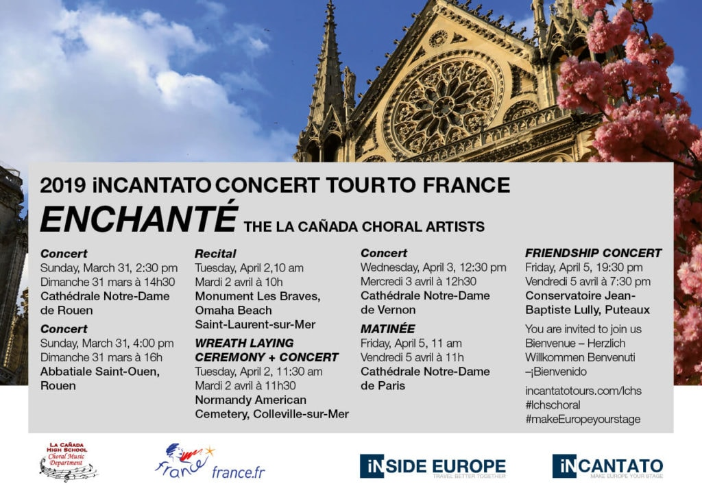 La Cañada Choral Artists 2019 France Performance Overview