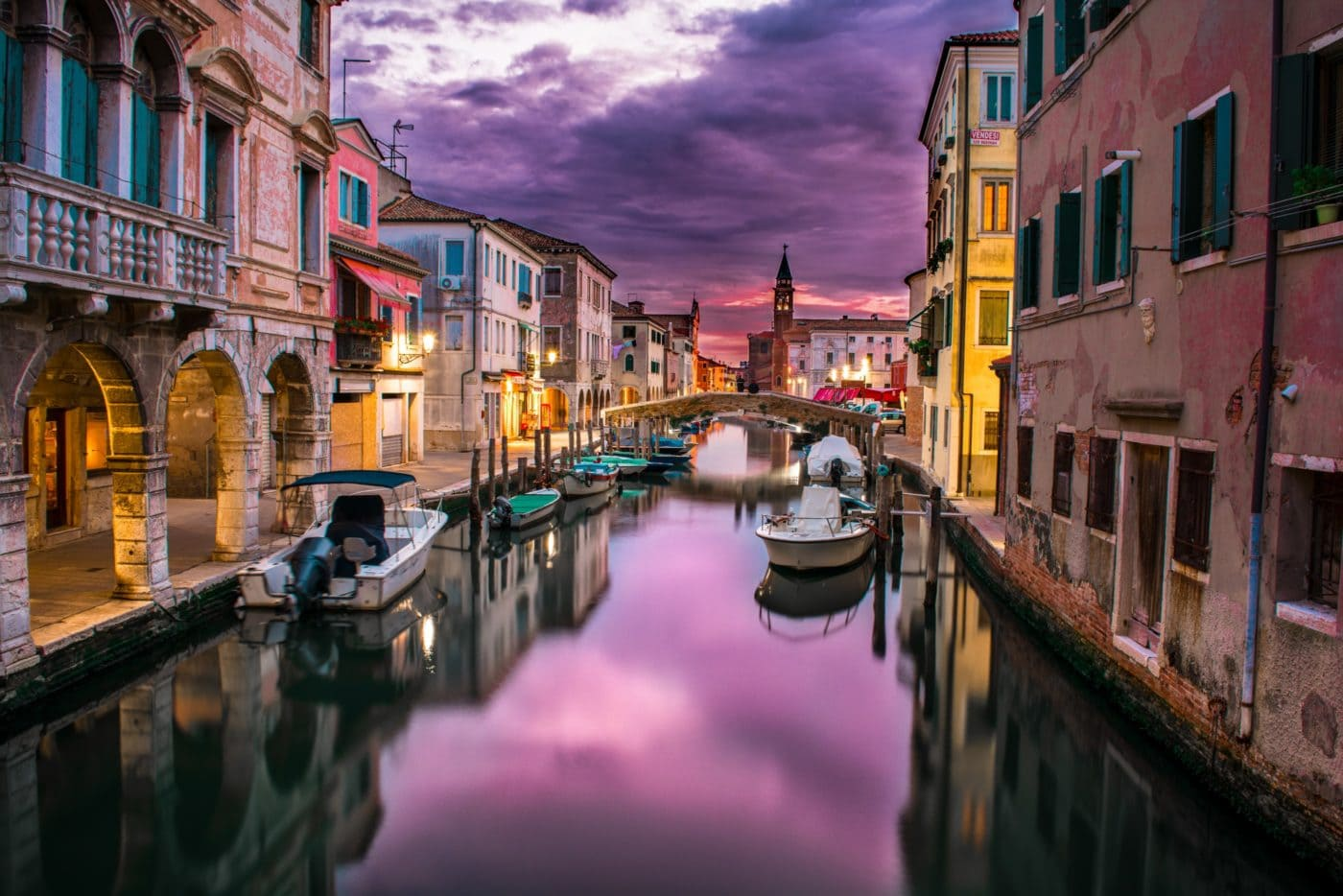 Postcard from Italy: Venice Sunset Pretty iN Pink